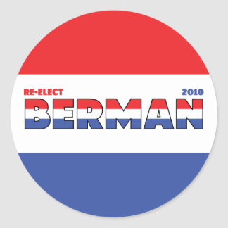 Vote Berman 2010 Elections Red White and Blue Stickers