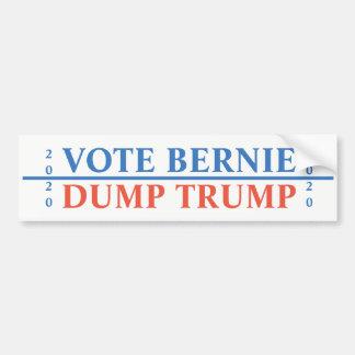 Vote Bernie Dump Trump Bumper Sticker