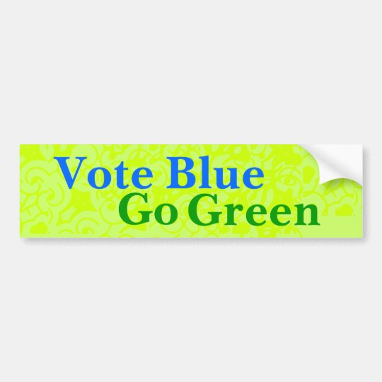Vote Blue Go Green Bumper Sticker
