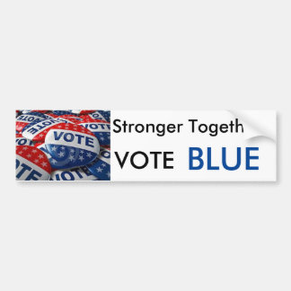 Vote Blue Stronger Together Democratic Bumper Sticker
