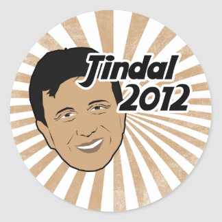 Vote Bobby Jindal 2012 Round Sticker