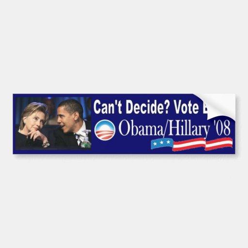 Vote Both Bumper Stickers