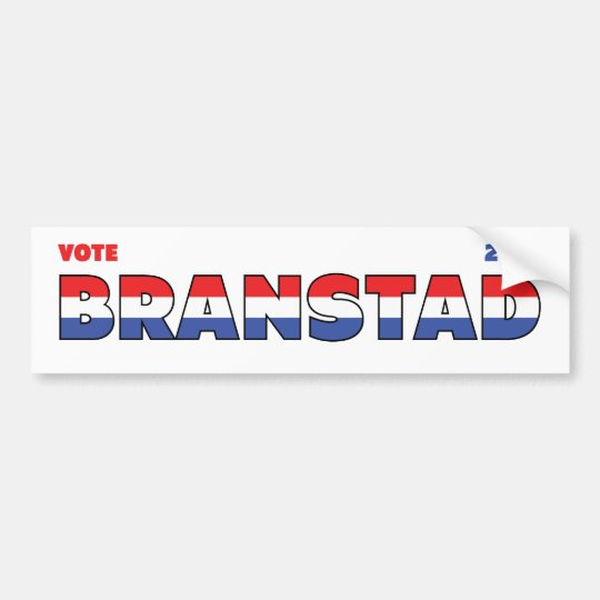 Vote Branstad 2010 Elections Red White and Blue Bumper Sticker