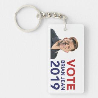 Vote Brian Jean Keychain
