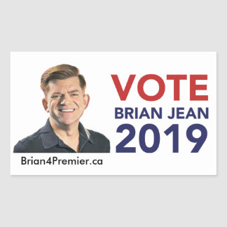Vote Brian Jean Stickers