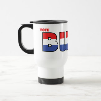 Vote Buck 2010 Elections Red White and Blue Travel Mug