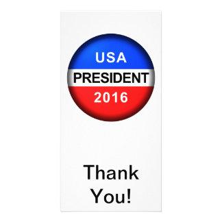 Vote Button President Photo Card
