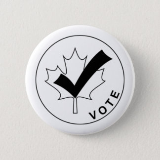 VOTE Canada Button - Black