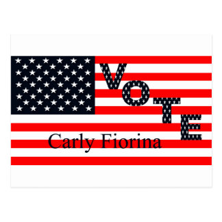 Vote Carly Fiorina for President 2016 Postcard