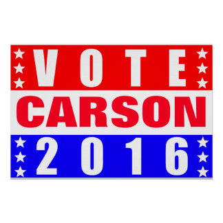 Vote Carson 2016 Presidential Election Poster