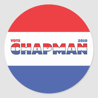 Vote Chapman 2010 Elections Red White and Blue Stickers