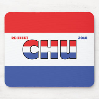 Vote Chu 2010 Elections Red White and Blue Mouse Pads