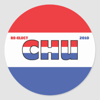Vote Chu 2010 Elections Red White and Blue Round Stickers