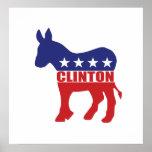 Vote Clinton Democrat Poster