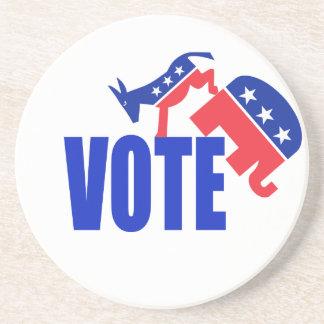 VOTE BEVERAGE COASTER