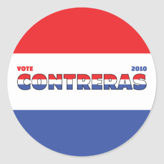 Vote Contreras 2010 Elections Red White and Blue Stickers