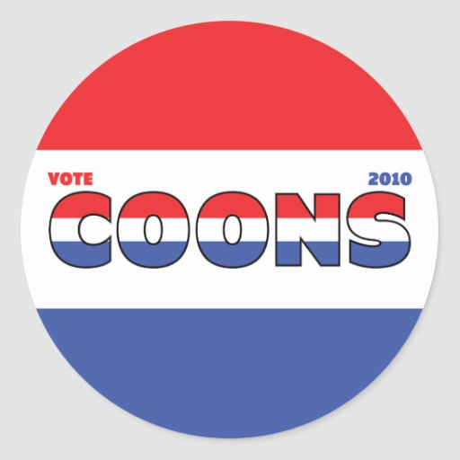 Vote Coons 2010 Elections Red White and Blue Stickers