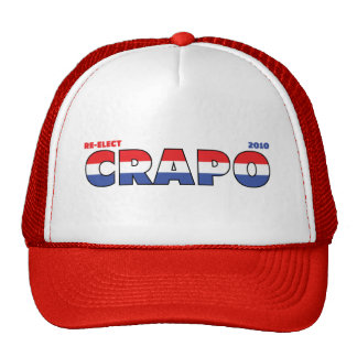 Vote Crapo 2010 Elections Red White and Blue Mesh Hats