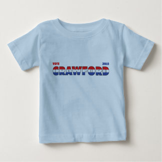 Vote Crawford 2010 Elections Red White and Blue T-shirts