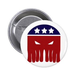 Vote Cthulhu 6 Cm Round Badge