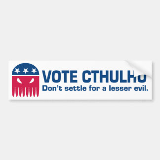 Vote Cthulhu Bumper Sticker