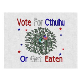 VOTE CTHULHU POSTCARD