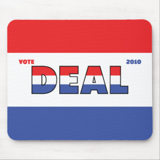 Vote Deal 2010 Elections Red White and Blue Mouse Pad