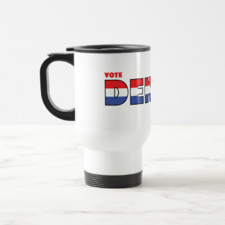 Vote Dekker 2010 Elections Red White and Blue Travel Mug