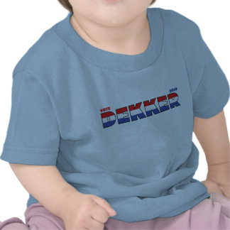 Vote Dekker 2010 Elections Red White and Blue T-shirt
