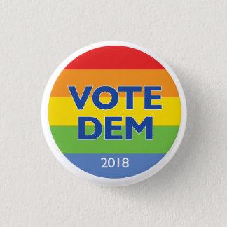 Vote Dem 2018 rainbow button