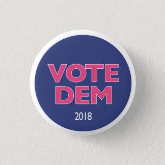Vote Dem pink button