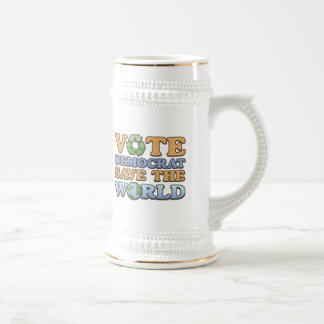 Vote Dem Save the World Mugs