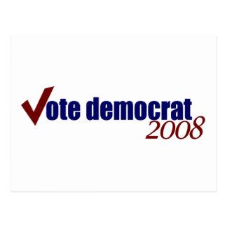 Vote Democrat 2008 Postcard