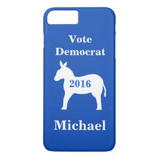 Vote Democrat 2016 Name Personalized Blue iPhone 7 Plus Case