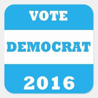 Vote Democrat 2016 - Sq. Stickers