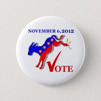 Vote Democrat Button