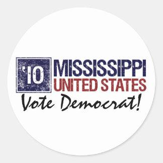 Vote Democrat in 2010 – Vintage Mississippi Round Sticker