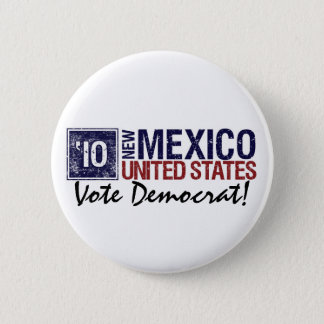 Vote Democrat in 2010 – Vintage New Mexico 6 Cm Round Badge