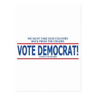 VOTE DEMOCRAT! POSTCARD