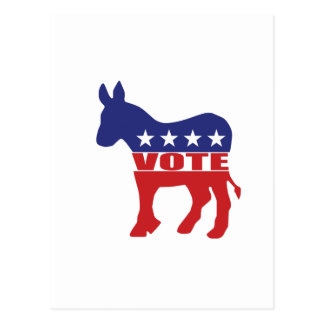 Vote Democratic Party Postcard