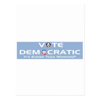 Vote Democratic Postcard