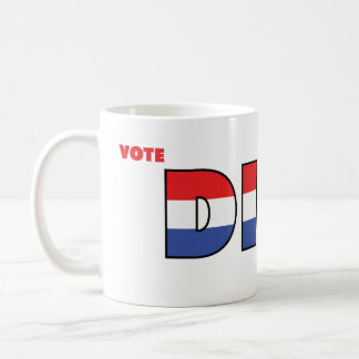 Vote Dibs 2010 Elections Red White and Blue Basic White Mug