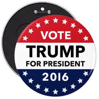 Vote Donald Trump for President 2016 Jumbo Pin