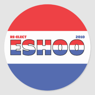 Vote Eshoo 2010 Elections Red White and Blue Sticker
