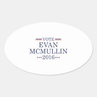 Vote Evan McMullin Oval Sticker