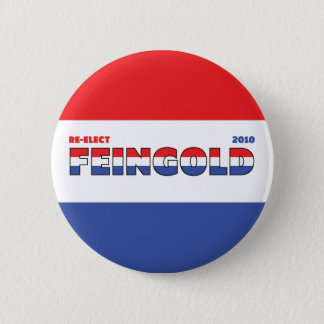 Vote Feingold 2010 Elections Red White and Blue 6 Cm Round Badge