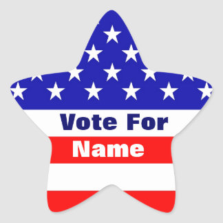 Vote For... American Flag Star Stickers