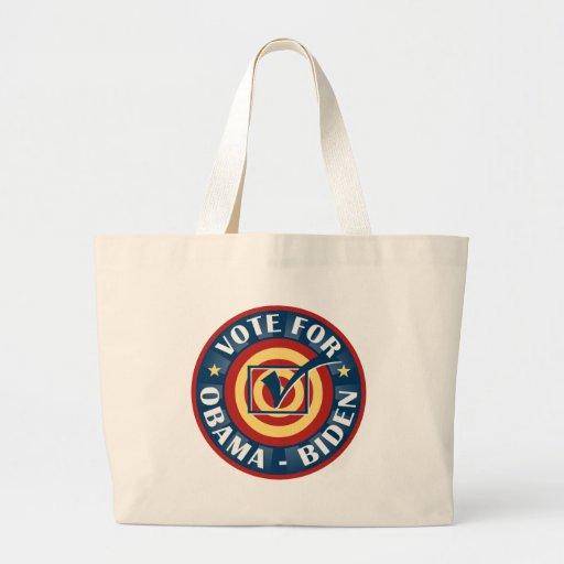 Vote For Barack Obama Joe Biden Canvas Bags