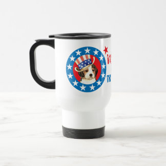 Vote for Beagle Stainless Steel Travel Mug