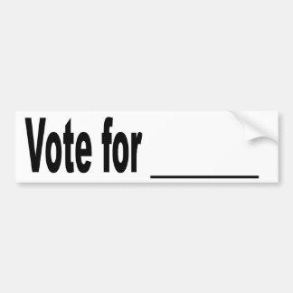 Vote for blank bumper sticker